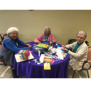 Brightmore's Kempton Assisted Living residents working on project